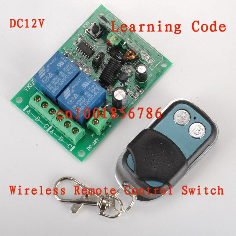 DC12V 10A 2CH Power Switch RF Wireless Remote Control Switch System transmitter +receiver(switch) Toggle Momentary Latched rf wireless remote control switch 220v 110v power switch system 12 receiver