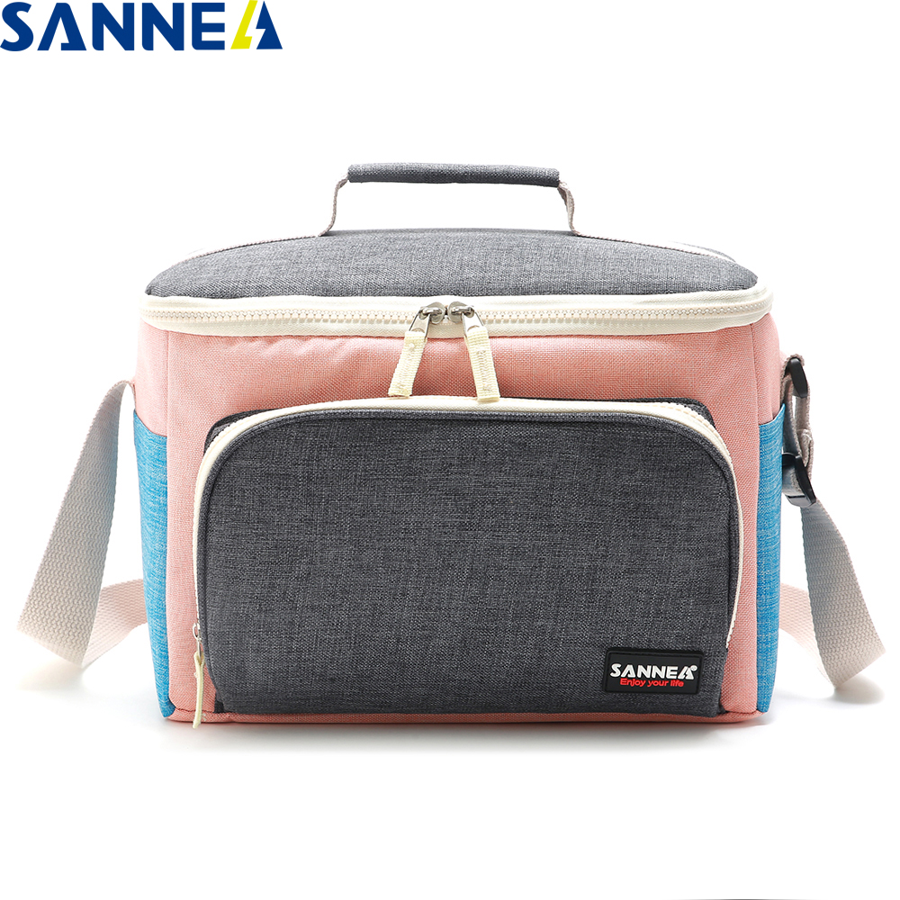 SANNE 2020 New Fashion Design Lunch Bag insulated thermal lunch bag Frosted fabric Multifunction Portable Lunch Bag