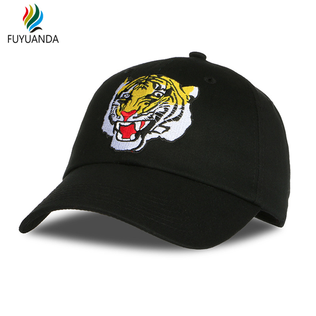 ac699be954cd2 Boné de Beisebol 2017 Hip Hap tigre Bordado Gótico Chapéus Para Mulheres  Marca Casquette Gorras Homens