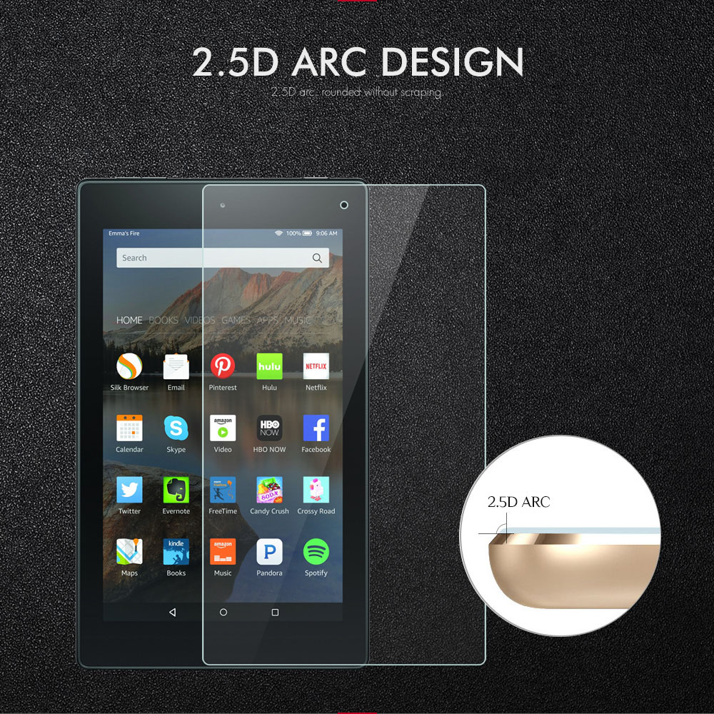 0 3mm 9H Tempered Glass Screen Protector For Amazon Fire HD7 HD8 HD10 2017 Glass Tablet Screen Protector Protective Film Guard in Tablet Screen Protectors from Computer Office