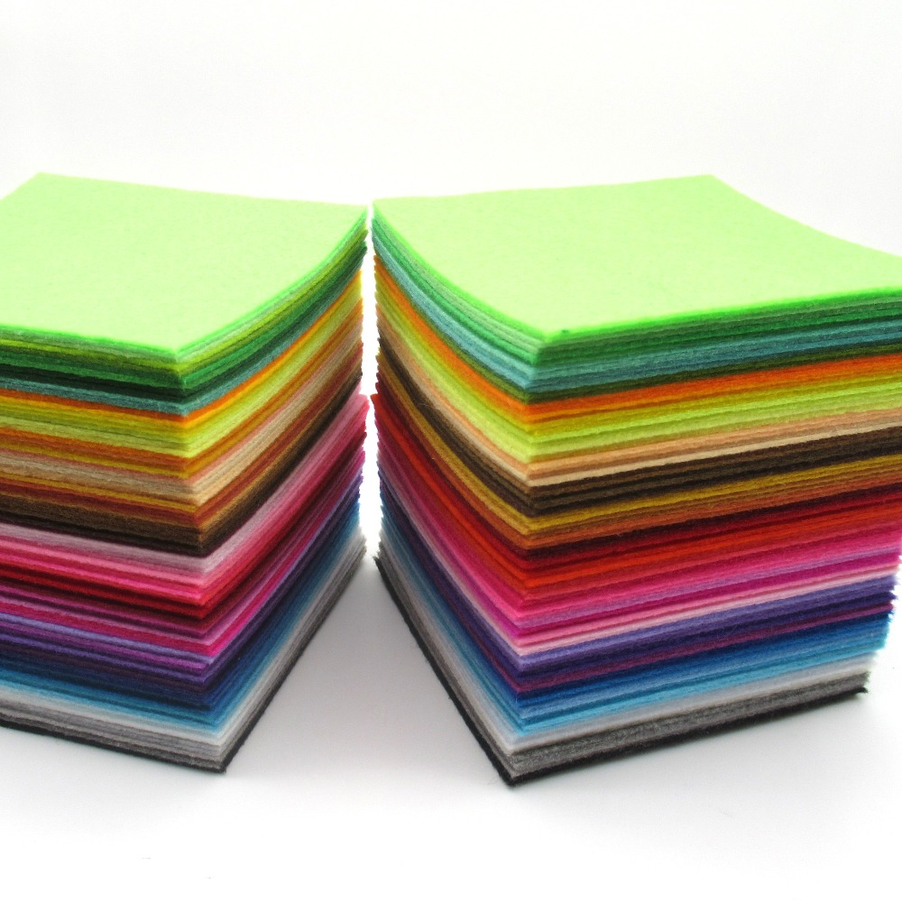 88 Colors/lot <font><b>Felt</b></font> Fabric Nonwoven <font><b>Felt</b></font> <font><b>1mm</b></font> Thickness 88 Sheets/pack Sewing Material For DIY Needle Craft Sewing Toys For Girls image