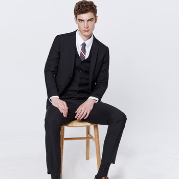 Hot Sale Custom Made Wedding Suits 3Pcs (Jacket+Vest+Pants) Business Suit Terno Masculino Slim Fit Tailored Suit Blazer Men