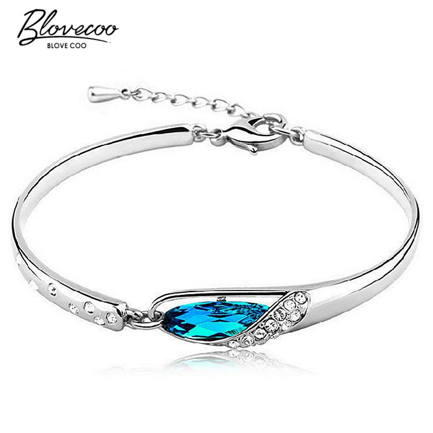 Silver glass slipper bangle bracelet fashion female models cute vintage font b jewelry b font super