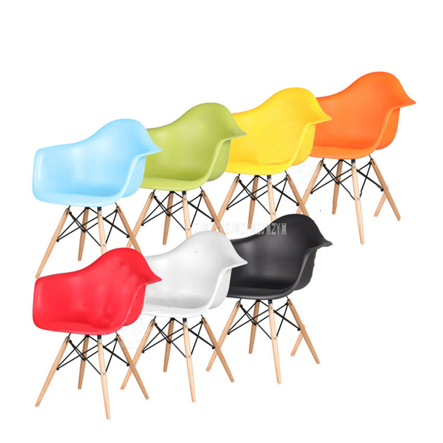 Fine Us 78 26 1Set 4Pcs Dining Armchair Hot Sale Plastic Pp And Wood Modern Dining Chair Living Room Reception Chair Home Popular Furniture In Dining Ncnpc Chair Design For Home Ncnpcorg