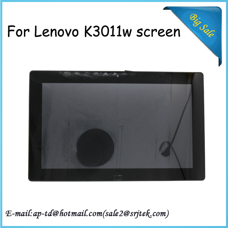 11.6 Inch Wholesale New For Lenovo K3011w LCD Display Touch Screen Digitizer Glass Sensor Full Asssembly With Frame Parts new for lenovo lemon k3 k30 t k30 lcd display with touch screen digitizer assembly full sets black