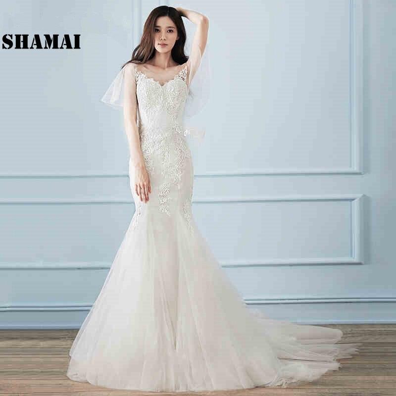 Trumpet Wedding Dresses 2019: SHAMAI Korea Mermaid Wedding Dresses 2019 Trumpet Bride