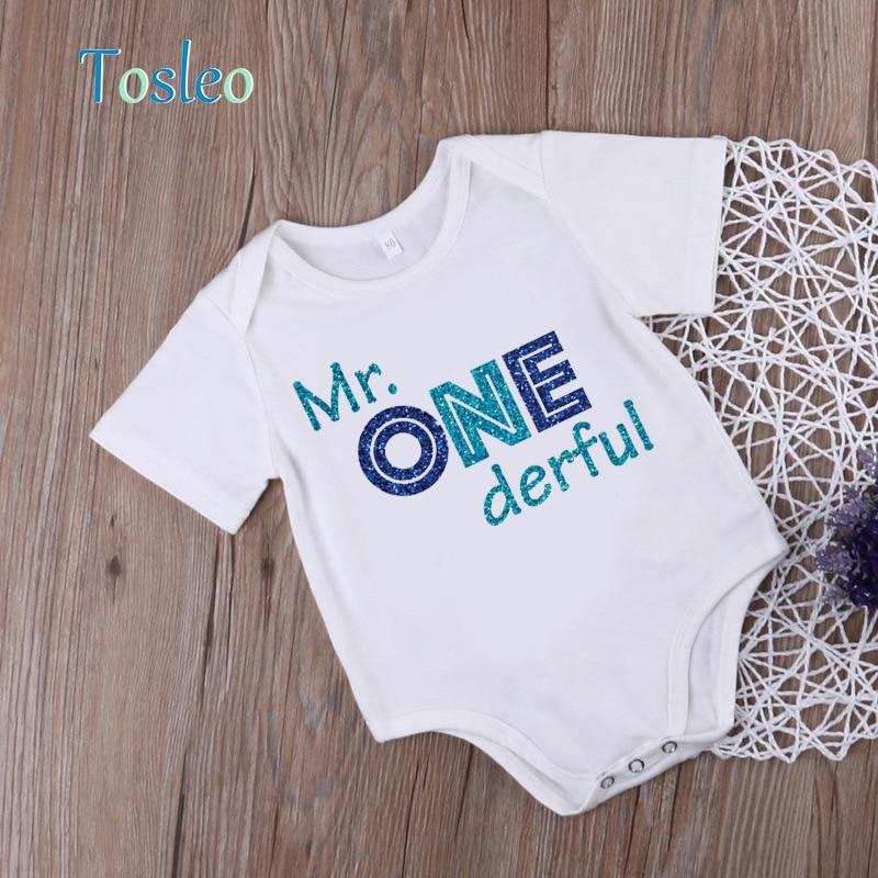 2018 Zabawne body niemowlęce Letnie ubranka dla dzieci Białe - Odzież dla niemowląt - Zdjęcie 1
