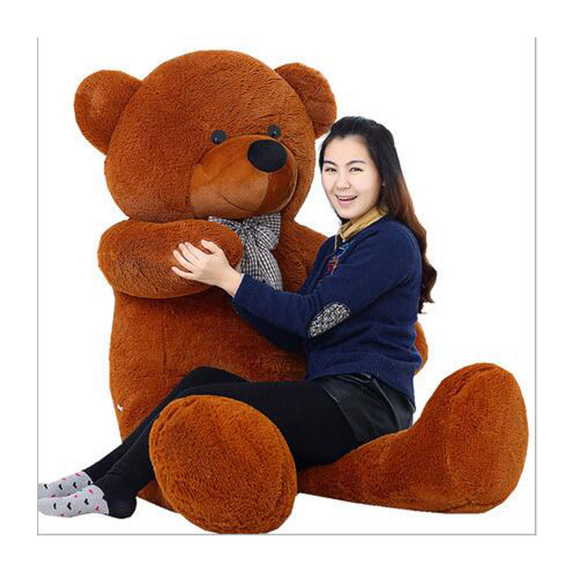 Cute 200CM Giant Size Teddy Bear Stuffed Plush Kids Teddy Bear Toys Teddy Bear Doll Plush Toy For Birthday Valentine's Day Gift недорого