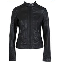 2017 Мода Новых женщин Куртка Европейская Мода Кожаная Куртка Pimkie Очистки Одного PU Кожа Мотоцикл Temale женщин Лит