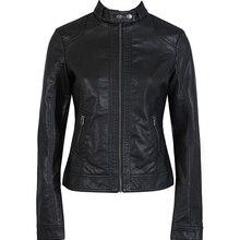 2018 Fashion New Women's Jacket European Fashion Leather Jacket