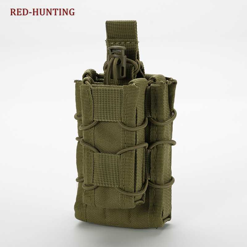 Tactische Open Top Double Magazine Pouch Molle Rifle Pistol Cartridge Clip Pouch Jacht Pouch