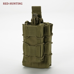 Tactical Open Top Double Magazine Pouch MOLLE Rifle Pistol Cartridge Clip Pouch Hunting Pouch