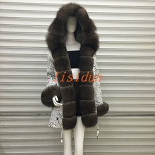 2018 fox fur coat, dress, womens clothing, long hair liner, Parker, and otter rabbit new