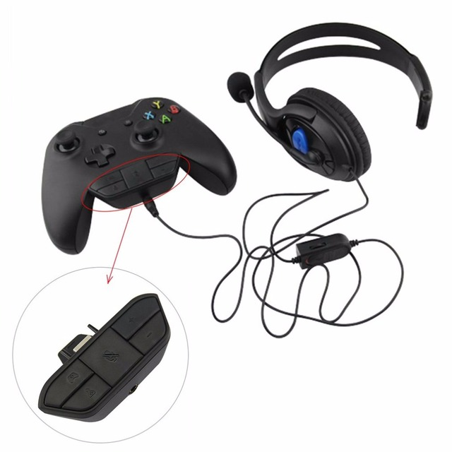 f62baa586c5 Stereo Headset Adapter Headset Audio Adapter Headphone Converter For Microsoft  Xbox One Wireless Game Controller