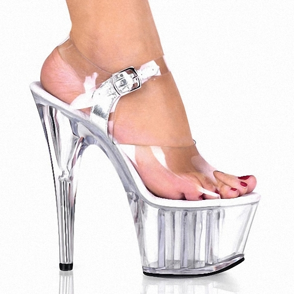 full clear crystal 15cm super high heel platforms pole dance performance star model shoes wedding shoes