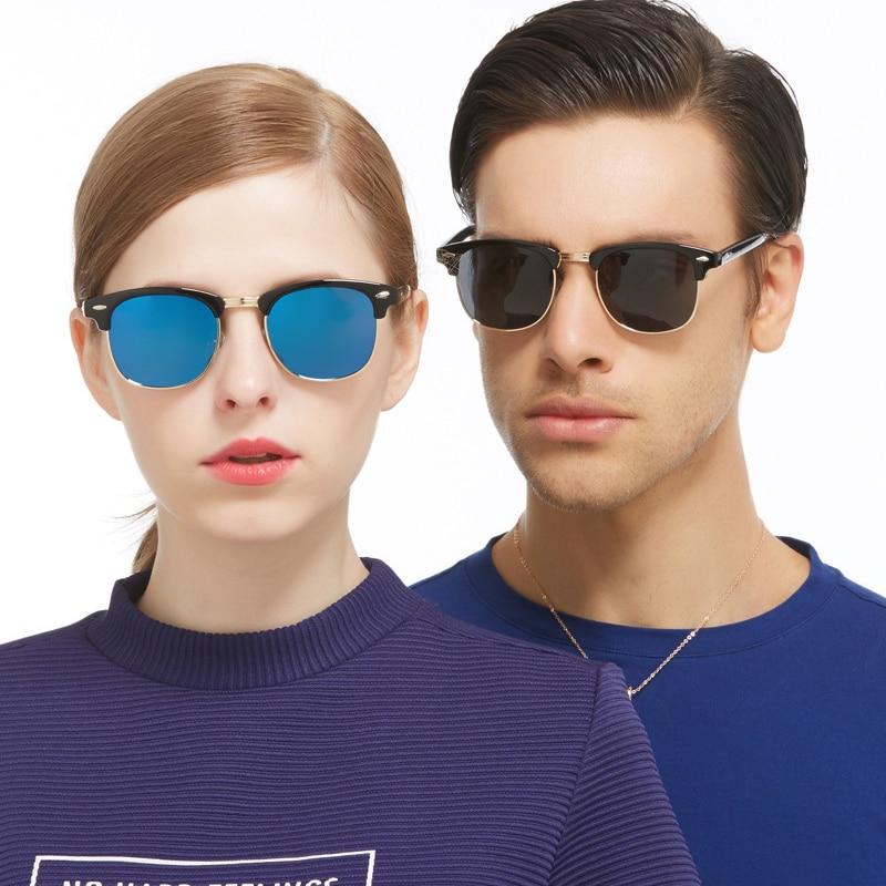 3a8d6b2a73 Semi Rimless Sunglasses Women Men Retro Classic Ray Sunglass Half Frame Sun  Glasses Unisex Densigner Male Female Eyeglasses -in Sunglasses from Apparel  ...