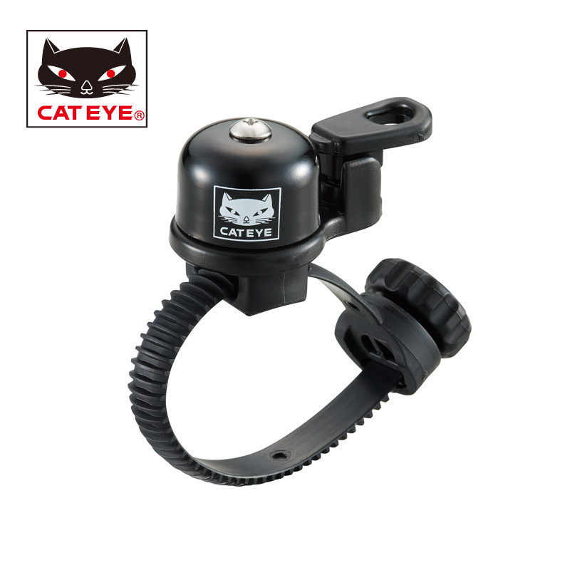 CATEYE Bicycle FlexTight Bell Cycling MTB Folding Bike Loud Alarm Copper Ring Bicycle Solid Brass Fit 19-32 mm Handlebar Bell