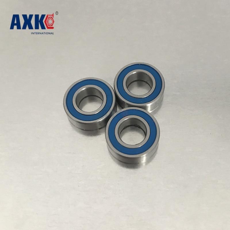 Blue Rubber Sealed Ball Bearing Bearings 608-2RS 8x22x7 mm 4pcs