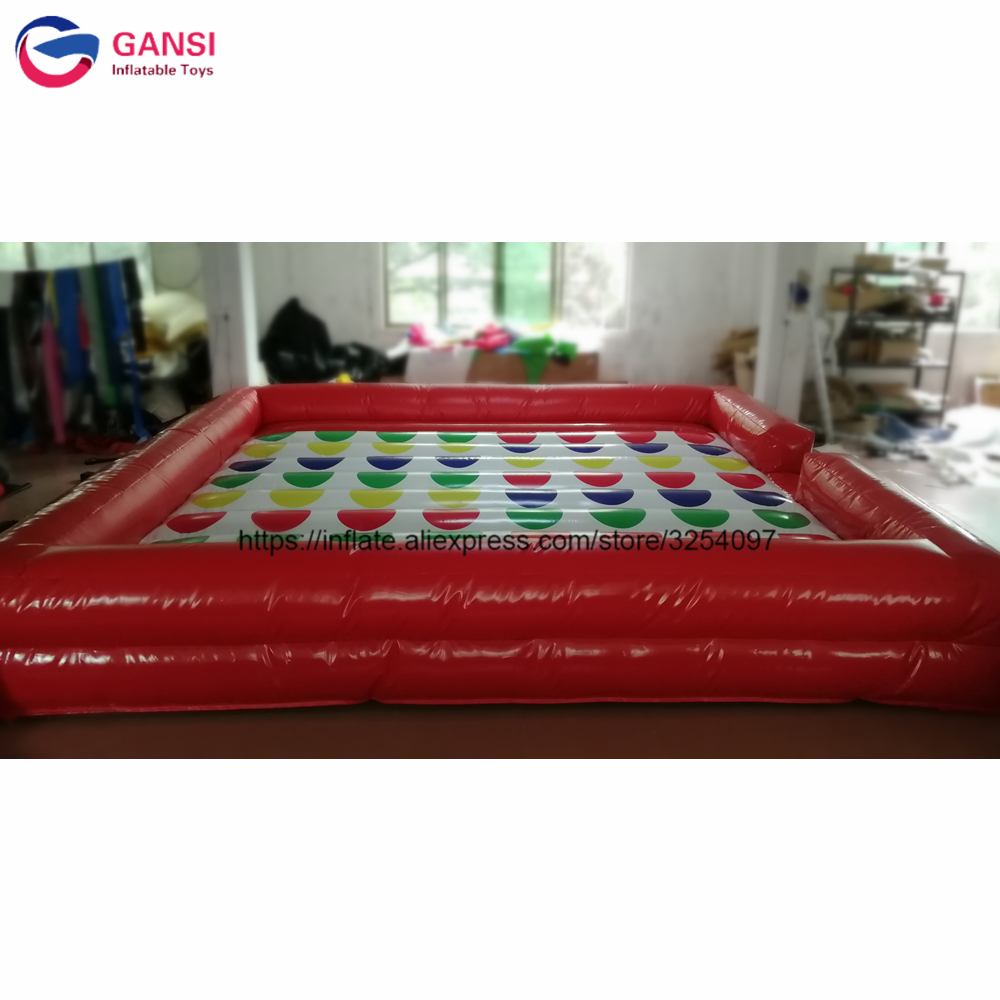 Right foot and left hand games twister mattress 5x5m inflatable giant twister game for outdoor event