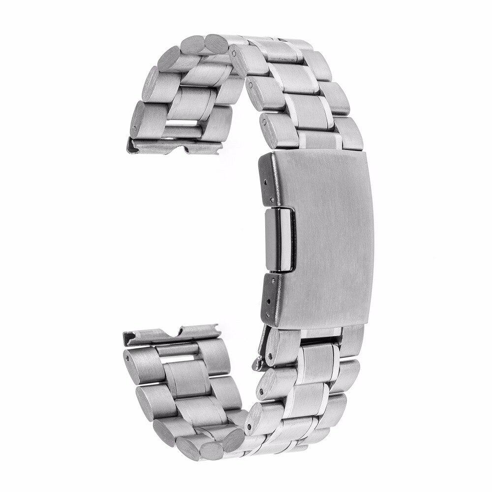 22mm Edelstahl Uhrenarmband Metall Uhrenarmband Armband für - Uhrenzubehör - Foto 4