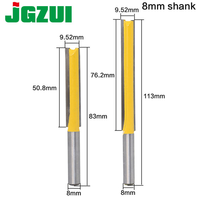 """1 pc Straight/Dado Router Bit 1/2"""" Dia. X 3"""" Length   8"""" Shank Woodworking cutter Wood Cutting Tool"""