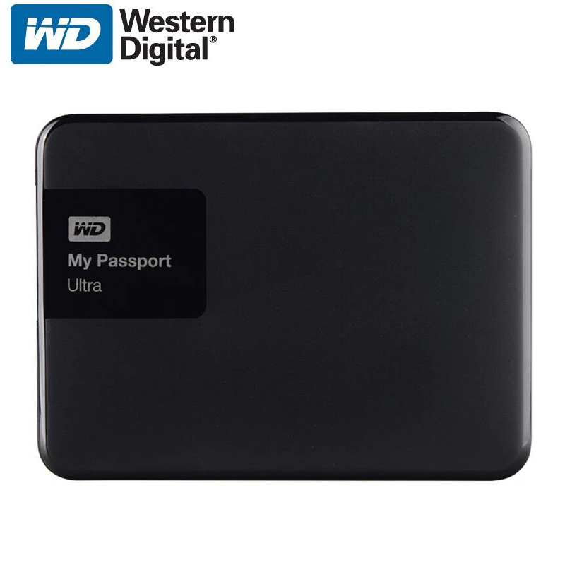 WD My Passport Ultra External Hard Drive Disk HD 1TB High Capacity SATA USB 3.0 Storage Device Original for Computer Laptop