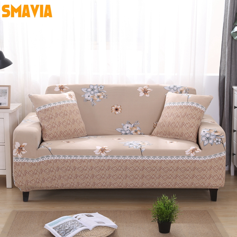 SMAVIA Flower Printing Couch Cover Single Chair Cover Elastic Recliner Cover 100%polyester Slipcovers Non-slip Furniture Cover