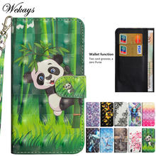 Wekays для samsung j4 j6 2018 милый мультяшный панда кожаный