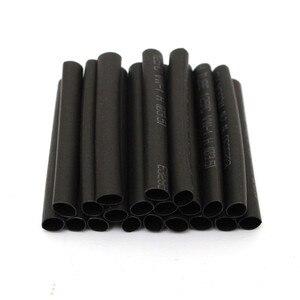 Image 3 - 127 adet siyah isı daralan tüp çeşitler Wrap elektrik yalıtım kablo boru çeşitler poliolefin