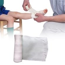 1 لفة 10 سنتيمتر x 4.5 متر ضمادة مرنة الإسعافات الأولية مجموعة لفة شاش الجرح خلع الملابس التمريض ضمادة الرعاية في حالات الطوارئ