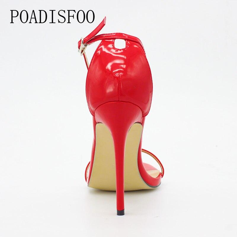 HTB1W06wmfDH8KJjy1Xcq6ApdXXai 2020 New WOMEN Cover Heel Summer Super high heel Sandals Rough Fish Head open-toed Sandals sexy Large size women shoes .ZL-726-3