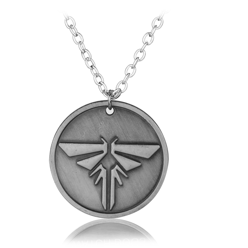 Rj new game ps4 the last of us firefly necklace high quality metal rj new game ps4 the last of us firefly necklace high quality metal alloy round tag necklaces men colar masculino chaveiro in pendant necklaces from jewelry aloadofball Images
