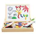 Wooden Little Girl Magnetic Alphabet Puzzle Toy Wood Writing Drawing Board Early Learning Education Toy For Children Kid Gift