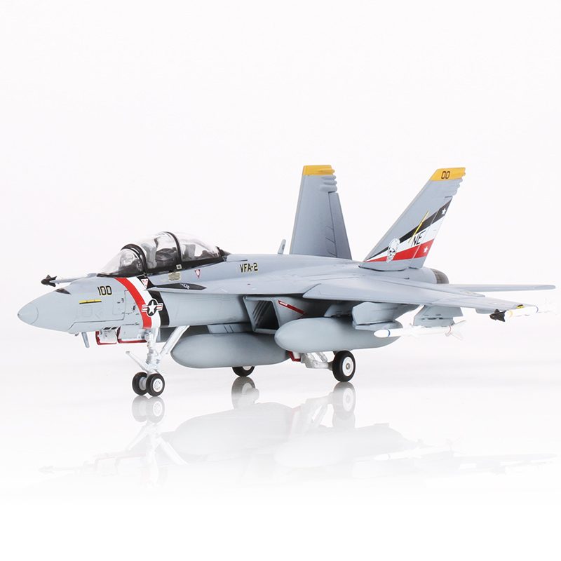 YJ 1/72 Scale Military Model Toys U.S. Navy F-18 F18 Hornet Strike Fighter Diecast Metal Plane Model Toy For Gift/Collection ...