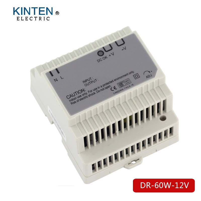 DR-60-12 Din Rail Switching Power Supply 60W 12VDC 5A Output ac dc dr 60 5v 60w 5vdc switching power supply din rail for led light free shipping