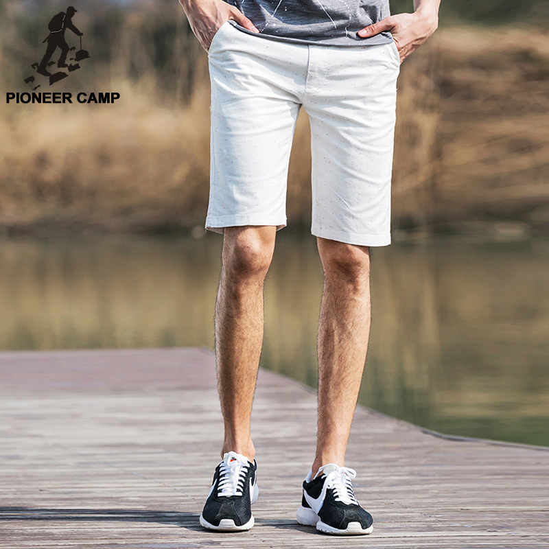 Pioneer Camp 2017 summer new fashion mens short pants thin cotton comfortable shorts casual shorts