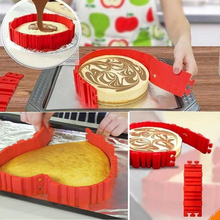 4 Pcs/Set Silicone Bakeware Magic Snake Cake Mold DIY Baking Square Rectangular Heart Shape Round Mould Pastry Tools, Nonst