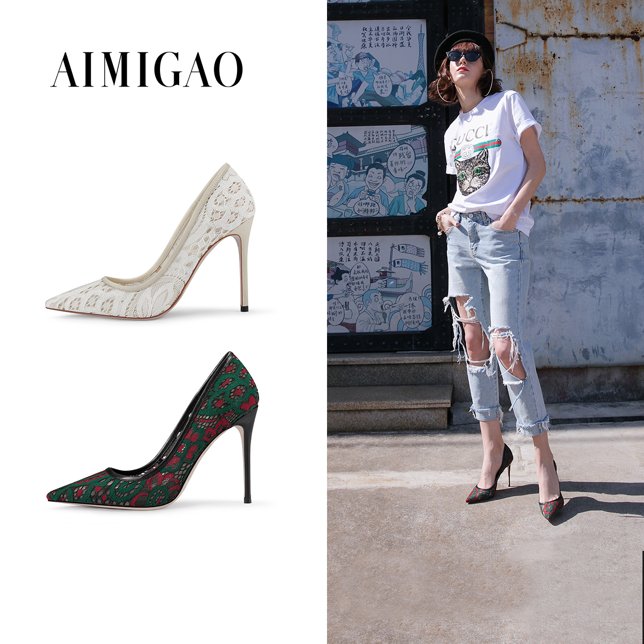 2018 Spring Fashion Green Red Lace Mesh Pointed Toe High Heel Pumps For Women Mixed Colors Ultra High Heel Women Shoes 10.5 cm цена