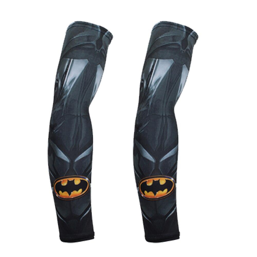 BJMOTO супергероев Marvel рукав Супермен Руку Протектор Для мужчин 3D митенки одежда с длинным рукавом смешно мотоцикл Спорт УФ-защита