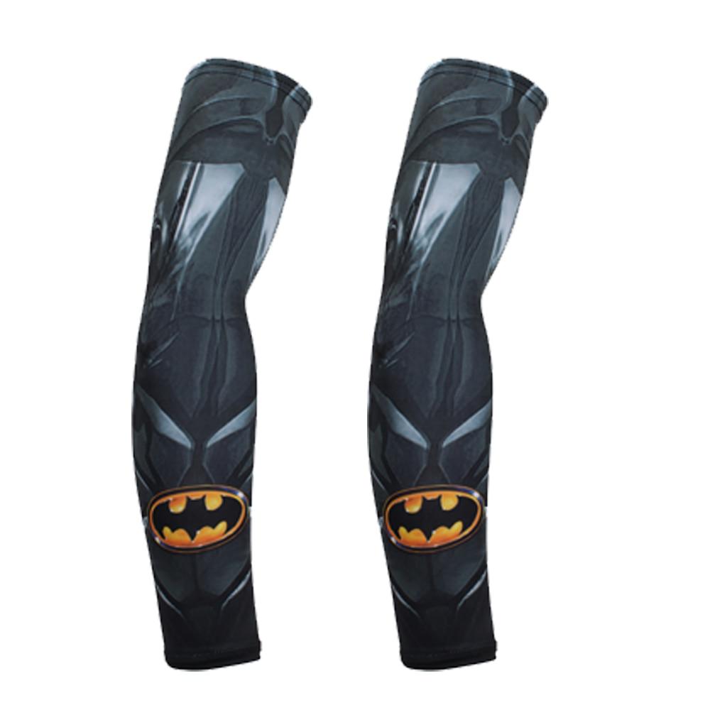 цена на BJMOTO Marvel Superhero Arm Sleeve Superman Arm Protector Men 3D Arm Warmers Long Sleeves Funny Motorcycle Sport UV Protection