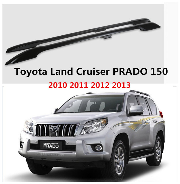 Barras De Tejadilho Do Carro Bagageiro Bar Para Toyota Land Cruiser PRADO  150 2010 2011 2012