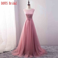 Beautiful Lace Evening Dresses Long Party Beaded Ladies Women Formal Evening Gowns Dresses Wear