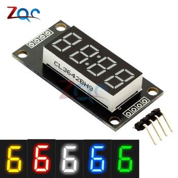 """4-cyfra led 0.56 """"7 segmentów wyświetlacz Tube TM1637 zegar podwójne kropki moduł rozmiar 30x14mm 0.56 cala dla Arduino 5 kolor"""