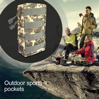 OUTAD Outdoor Sports Bag Mini Tool Kit Bag Zipper Waist Bag Large Tactical Pouch Key Phone