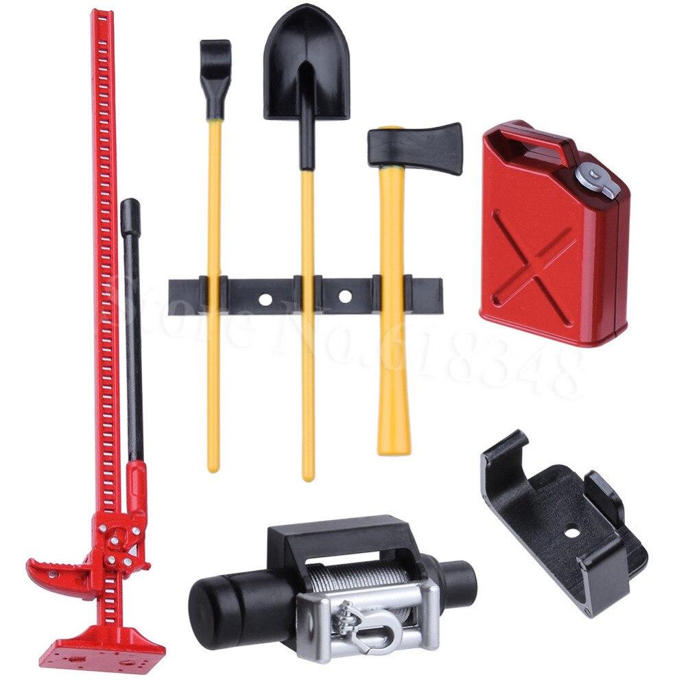 1 Set RC Crawler 1:10 Accessories Fuel Tank Winch Jack Tools Kit for Axial SCX10 TAMIYA CC01 RC4WD D90 D110 TF2 Climbing Car tamiya tt 01 sc430