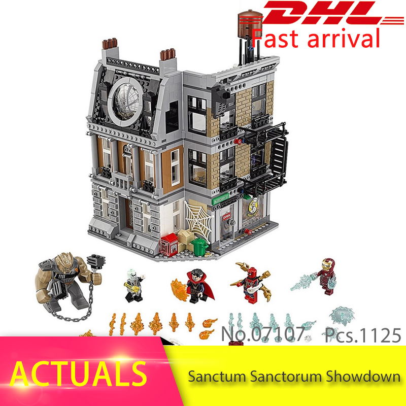 Lepin 07107 Super Heroes Series Sanctum Sanctorum Showdown Model Building Block Brick Toys For Children Gift compatible 76108