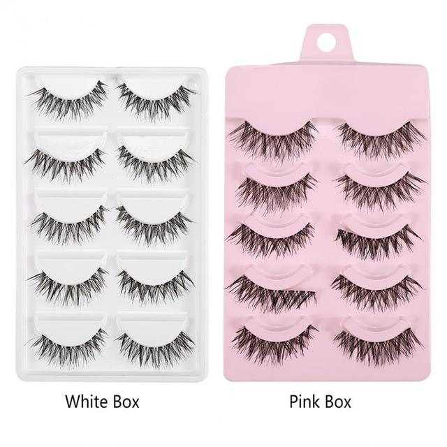 2 Types Natural Beauty False Eyelashes Dense Thick Crisscross Fake