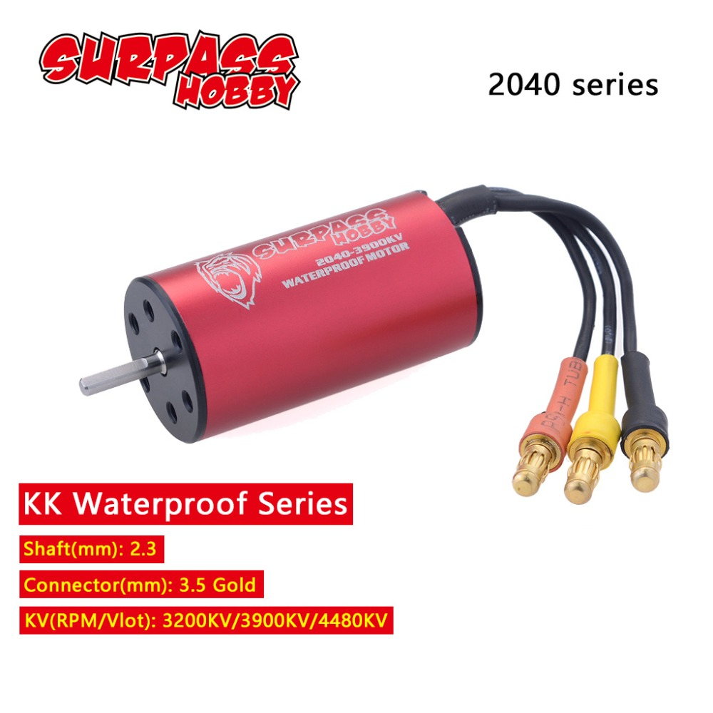 KK 2.3mm 2040  2280KV 3200KV 3900KV 4480KV Waterproof Brushless Motor for Traxxas HSP Tamiya Axial 1/16 1/18 RC Buggy Car-in Parts & Accessories from Toys & Hobbies