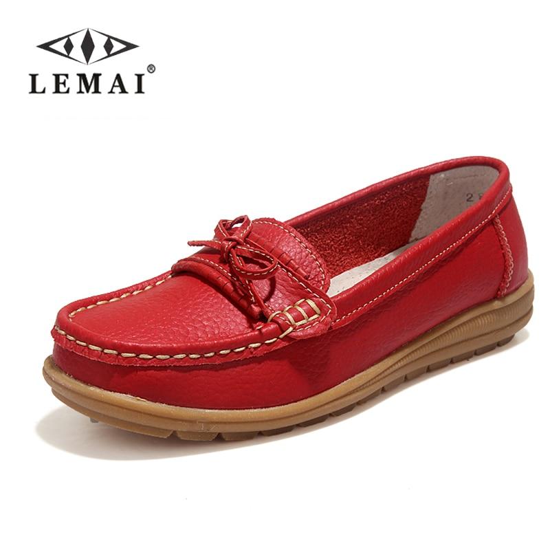 Обувь 2017 Дамская обувь из натуральной кожи Туфли без каблуков 4 Цвета Женские Лоферы без застежек; туфли на плоской подошве Мокасины # wd2872