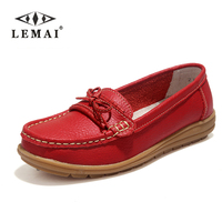 Shoes Woman 2016 Genuine Leather Women Shoes Flats 4Colors Loafers Slip On Women S Flat Shoes